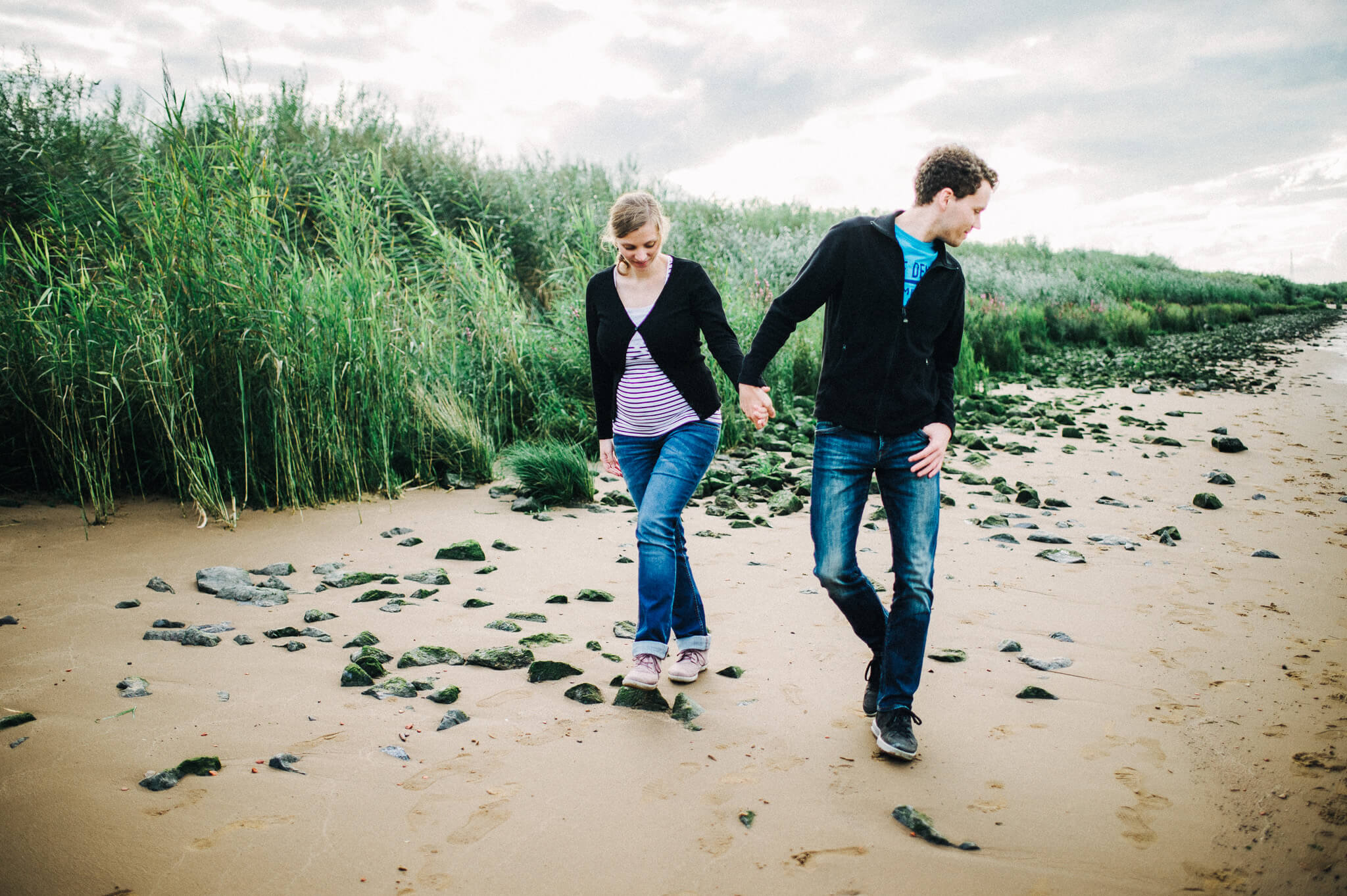Paar Shooting im Alten Land, an der Elbe