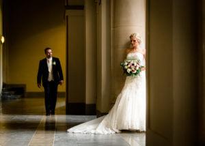 Brautpaar First Look, Hannover Rathaus