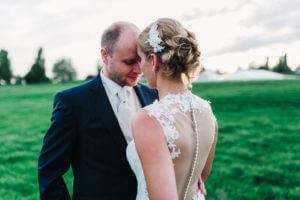 Brautpaar in Grünendeich, Elbe